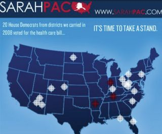Sarah Palin Crosshair Map